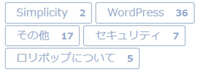 投稿数がaタグ内に表示されるカテゴリー一覧ショートコード